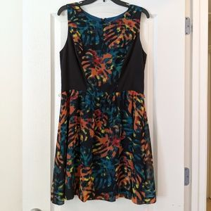 Kensie Multicolored Fit and Flare Dress